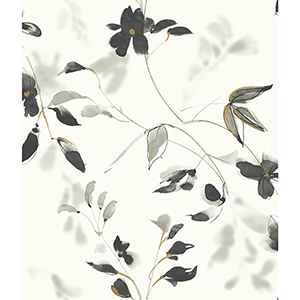 Candice Olson Tranquil Black Floral Wallpaper