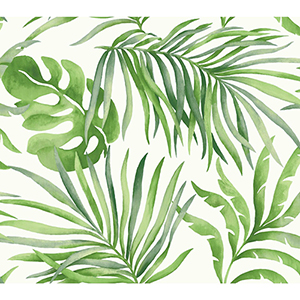 Candice Olson Tranquil Green Palm Wallpaper