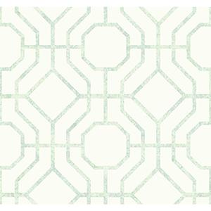 Candice Olson Tranquil Light Green Trellis Wallpaper