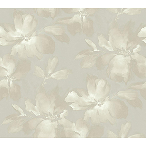 Candice Olson Tranquil Gray Floral Wallpaper