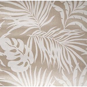 Candice Olson Tranquil Beige Grasscloth Palm Wallpaper