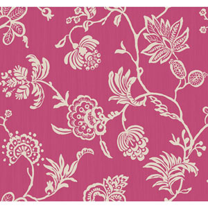 Sculptured Surfaces II Hot Pink and White Madeline Wallpaper