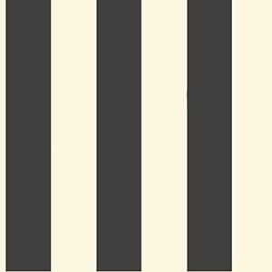 Ashford Black, White Cream and Ebony Wallpaper