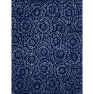 Stacy Garcia Paper Muse Grey and Navy Blue Wild Poppies Wallpaper
