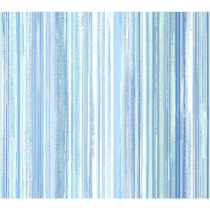 Stacy Garcia Paper Muse White and Blue Watercolor Strie Wallpaper