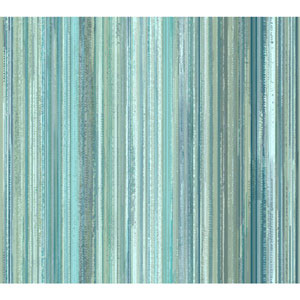 Stacy Garcia Paper Muse Blue and Silver Watercolor Strie Wallpaper