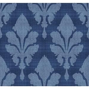 Stacy Garcia Paper Muse Blue Fleurish Wallpaper