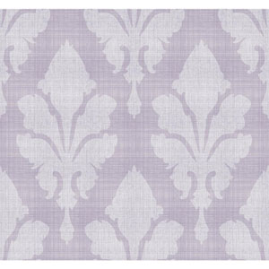 Stacy Garcia Paper Muse Grey and Purple Fleurish Wallpaper