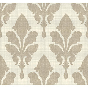 Stacy Garcia Paper Muse Cream and Gold Fleurish Wallpaper