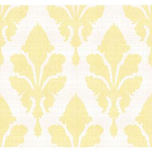 Stacy Garcia Paper Muse Cream and Yellow Fleurish Wallpaper