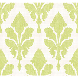 Stacy Garcia Paper Muse White and Green Fleurish Wallpaper