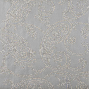 Stacy Garcia Paper Muse Metallic Silver and Grey Paisley Park Wallpaper