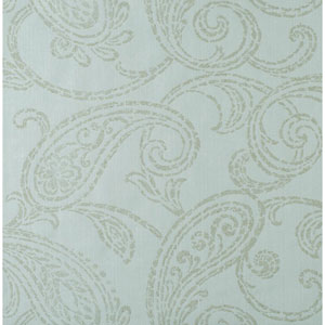Stacy Garcia Paper Muse Aqua and Gold Paisley Park Wallpaper