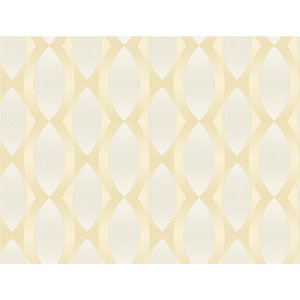 Stacy Garcia Paper Muse Beige and Yellow Geo Ombre Stripe Wallpaper