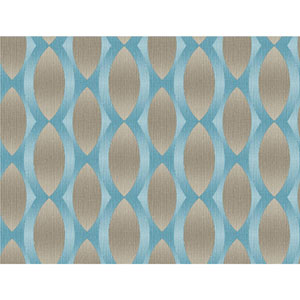 Stacy Garcia Paper Muse Blue and Taupe Geo Ombre Stripe Wallpaper