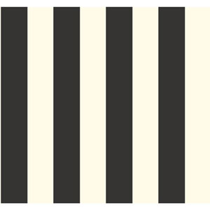 Waverly Stripes Black and White 3-Inch Wide Stripe Wallpaper