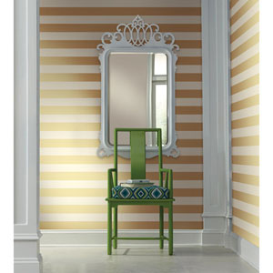 Waverly Stripes Gold 3-Inch Wide Stripe Wallpaper