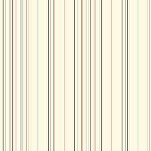 Waverly Stripes Orange and Gray Harmony Stripe Wallpaper