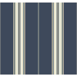 Waverly Stripes Blue Down The Lane Wallpaper