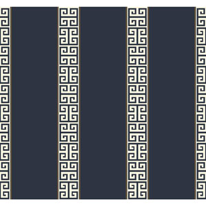 Waverly Stripes Greek Key Stripe Wallpaper