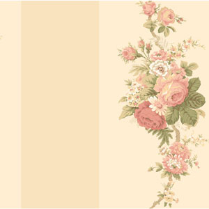 Waverly Stripes Norfolk Rose Wallpaper