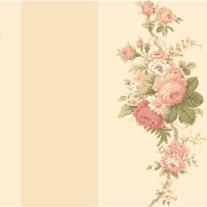 Waverly Stripes Norfolk Rose Wallpaper