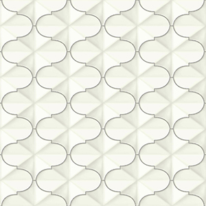 Ashford Whites Silver Geometric Wallpaper