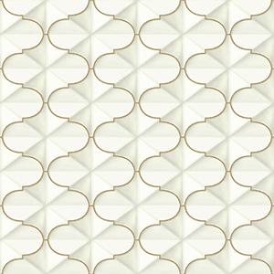 Ashford Whites Gold Geometric Wallpaper