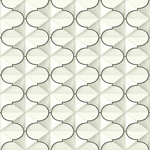 Ashford Whites Black Geometric Wallpaper