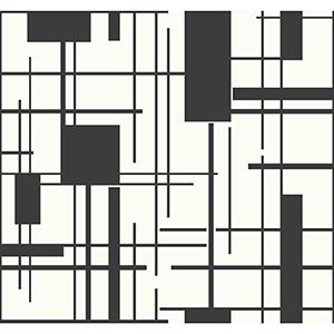 Ashford Whites Black Geometric Wallpaper