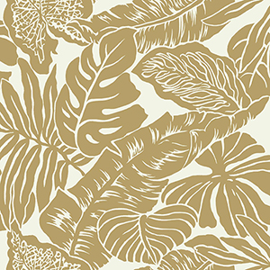 Ashford Whites Gold Floral Wallpaper