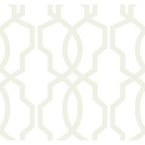 Ashford Whites Pearl Trellis Wallpaper