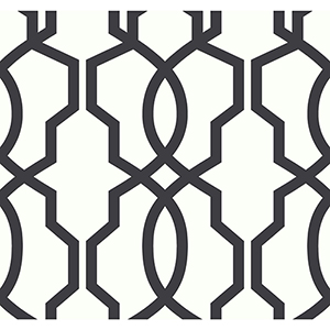 Ashford Whites Black Trellis Wallpaper