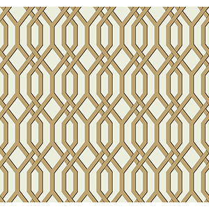 Ashford Whites Gold Trellis Wallpaper