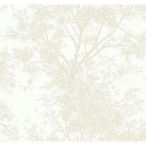 Ashford Whites Pearl Foliage Wallpaper