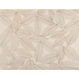 Ronald Redding Designer Resource Tan and Beige Grasscloth Natural Leaves Wallpaper