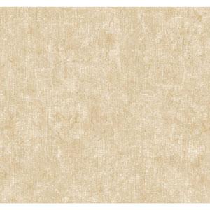 Ronald Redding Designer Damask Silver and Tan Parchment Wallpaper