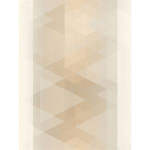 Ronald Redding Designs Stripes Resource Prism Stripe Beige Wallpaper
