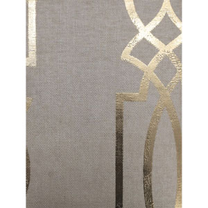Ronald Redding Designs Stripes Resource Cathedral Trellis Beige Wallpaper