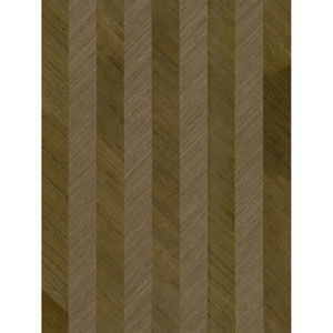 Ronald Redding Designs Stripes Resource Grass/Wood Stripe Brown Wallpaper