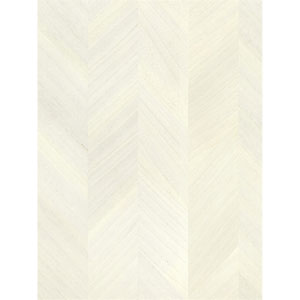 Ronald Redding Designs Stripes Resource Wood Veneer Off White Wallpaper