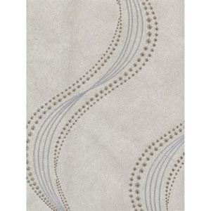 Ronald Redding Designs Stripes Resource Starlight Embroidery Beige Wallpaper