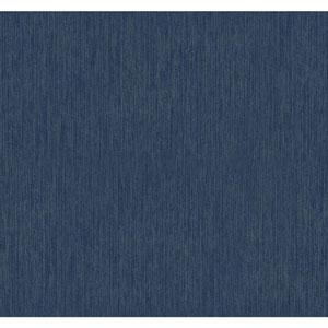 Texture Portfolio Midnight Blue and Silver Stratus Wallpaper