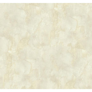 Texture Portfolio Cream and Fog Grey Antiqued Marble Wallpaper
