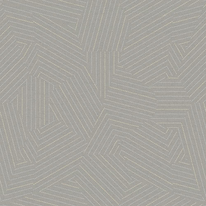 Modern Art Grey Stitched Prism Wallpaper