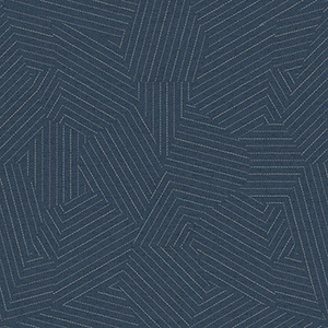 Modern Art Navy Stitched Prism Wallpaper