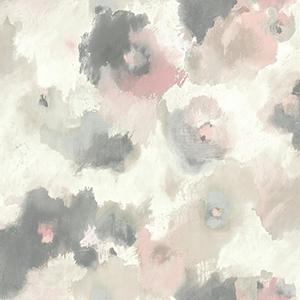 Modern Art Pink Impressionist Floral Wallpaper