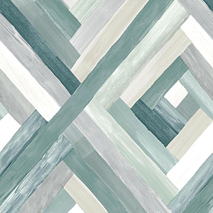 Modern Art Aqua Wynwood Geometric Wallpaper