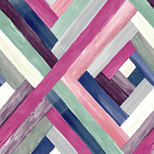 Modern Art Pink Wynwood Geometric Wallpaper
