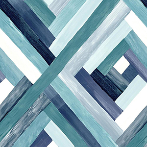 Modern Art Blue Wynwood Geometric Wallpaper